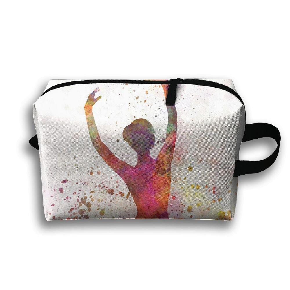 DTW1GjuY Lightweight And Waterproof Multifunction Storage Luggage Bag Ballet Dancer Dancing