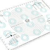 Large Silicone Pastry Mat Countertop-Protector – and Bonus Reusable Silicone Baking Mat – 17 x 26 inch with Measurements, Heat Resistant, Food Grade