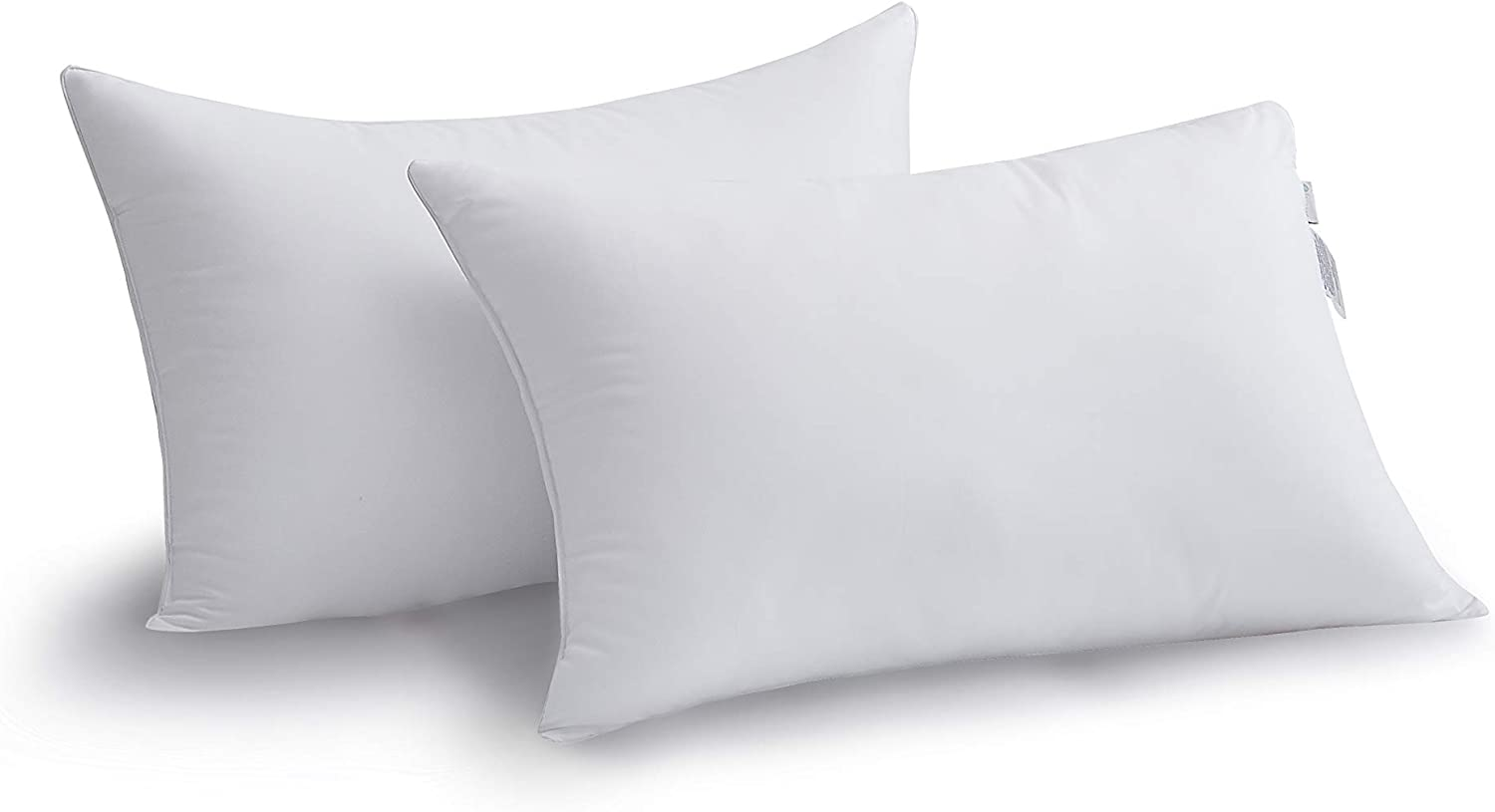 Amazon Com Acanva Hypoallergenic Bed Pillows For Sleeping 2 Pack Queen 20 X 30 White Home Kitchen