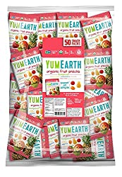 Yumearth Organic Tropical Fruit Snacks, 50 Snack Packs