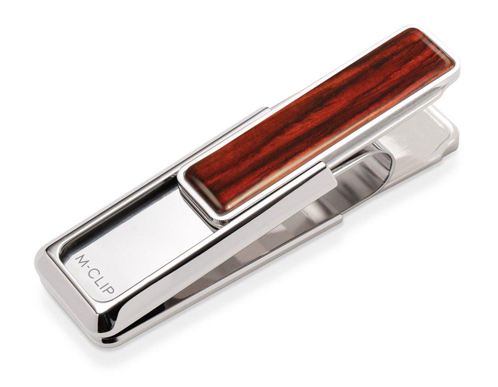M-Clip Wood Cocobolo Money Clip (WD-PRP-CBWD)