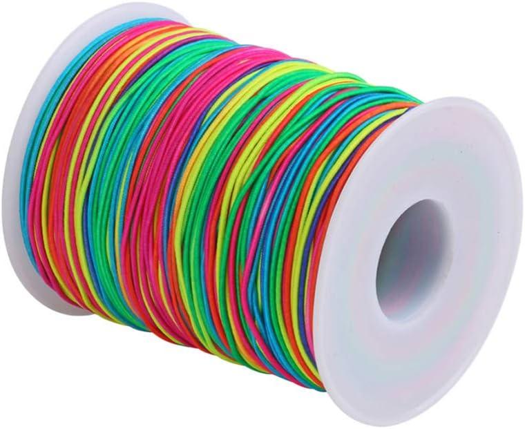 Filo Elastico Perline 2Mm Filo Elastico Filo Artigianale Filo Filo Tessuto Fascia Orecchino Corda Orecchino Corda per Gioielli Fai da Te Colori Assortiti EXCEART 1