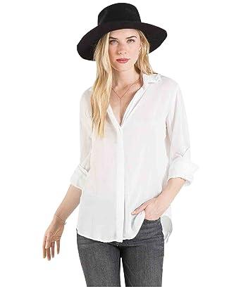 d9c3ac4e7 Bella Dahl Women's Back Drape Button Down Shirt (Medium) at Amazon ...