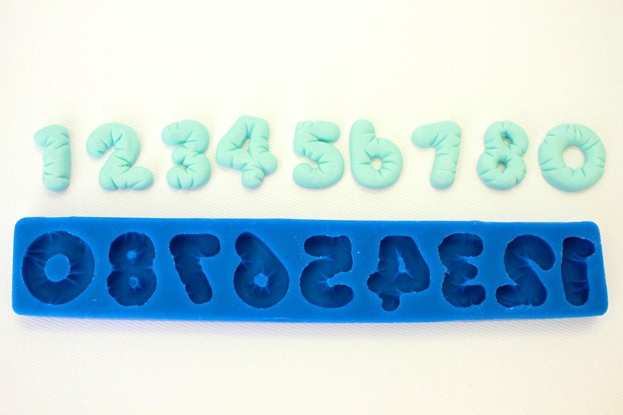 Cojín números molde de silicona para Fondant, pasta de goma ...