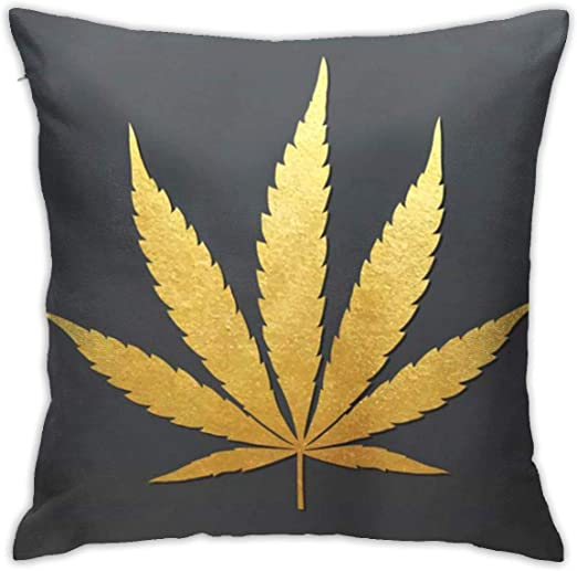 Pillow Cases Cannabis Leaf Plant