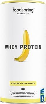 foodspring Proteína Whey, Sabor Plátano, 750g, Fórmula en ...
