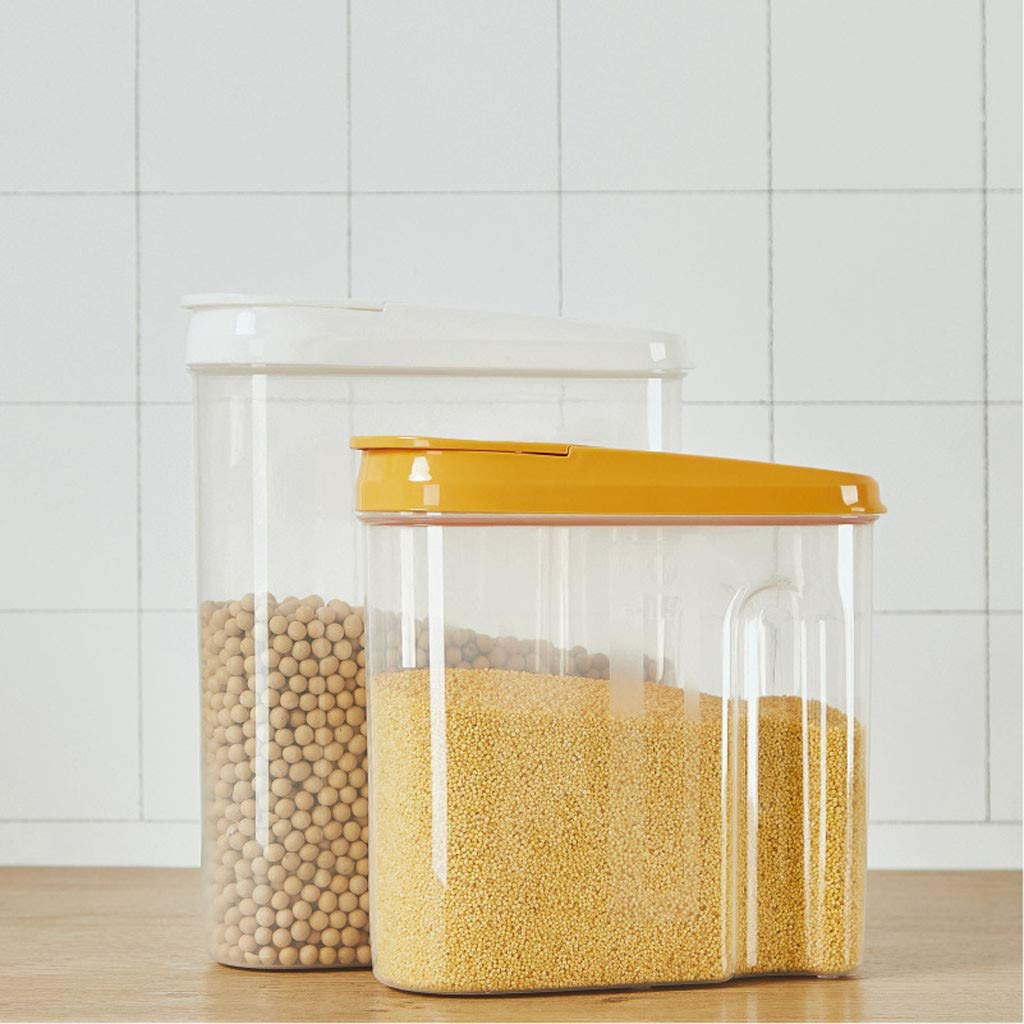 says~DE Vorratsdosen Frischhaltedosen Vorratsbeh/älter Wasserdicht und BPA-Frei Zucker gelb, s 3er Set Luftdicht Dosen Beh/älter zur Aufbewahrung von Mehl Nudeln 2.5//1.8Liter