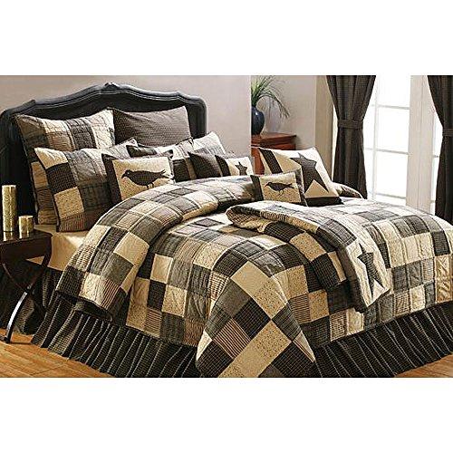 Kettle Grove Queen Quilt Bundle - 5 Piece Set. Set Contents: 1 Queen Quilt (94 x 94), 2 Queen Shams (21 x 27), 1 Queen Bed Skirt (80 x 60), 1 Pillow (16 x 16) for sale