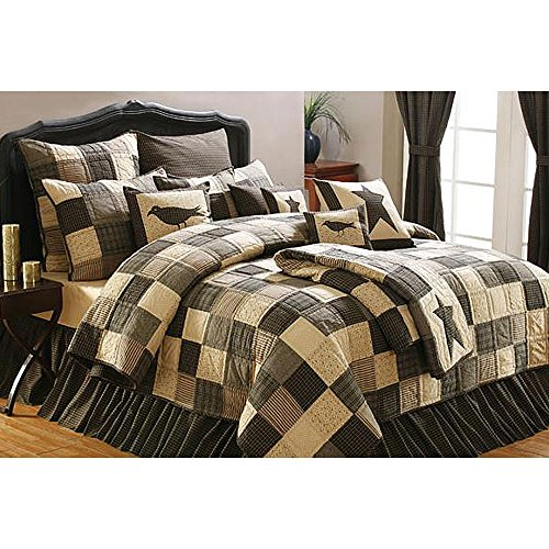 Lasting Impressions Kettle Grove Luxury King Quilt Bundle - 9 Piece Set. Set Contents: 1 Luxury King Quilt, 2 King Shams, 1 King Bed Skirt, 2 Euro Shams, 1 Accent Pillow, 1 Pillow, 1 Pillow -