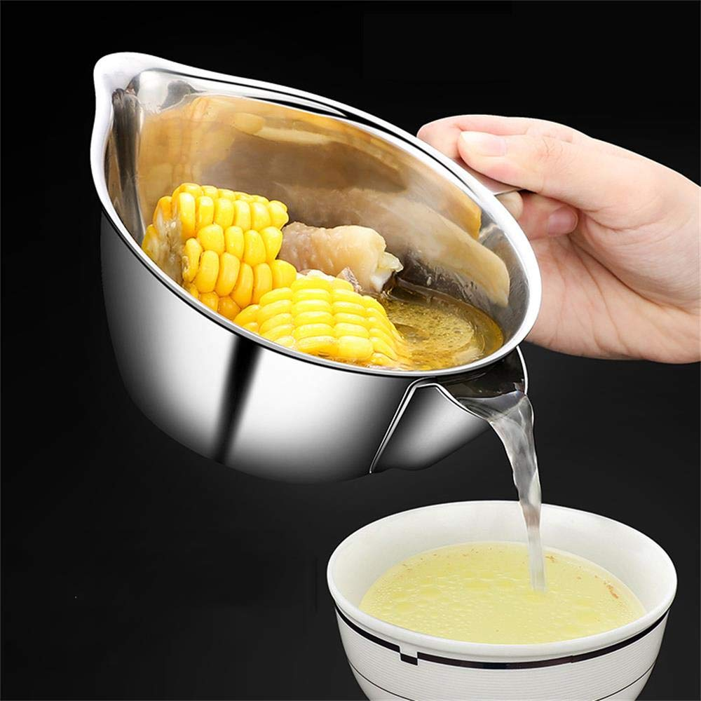 Momugs Large 21oz Oil Fat Gravy Separator Gravy Boat - Made of 304 (18/8) Stainless Steel - Makes Healthier Gravy and Fat Reduction