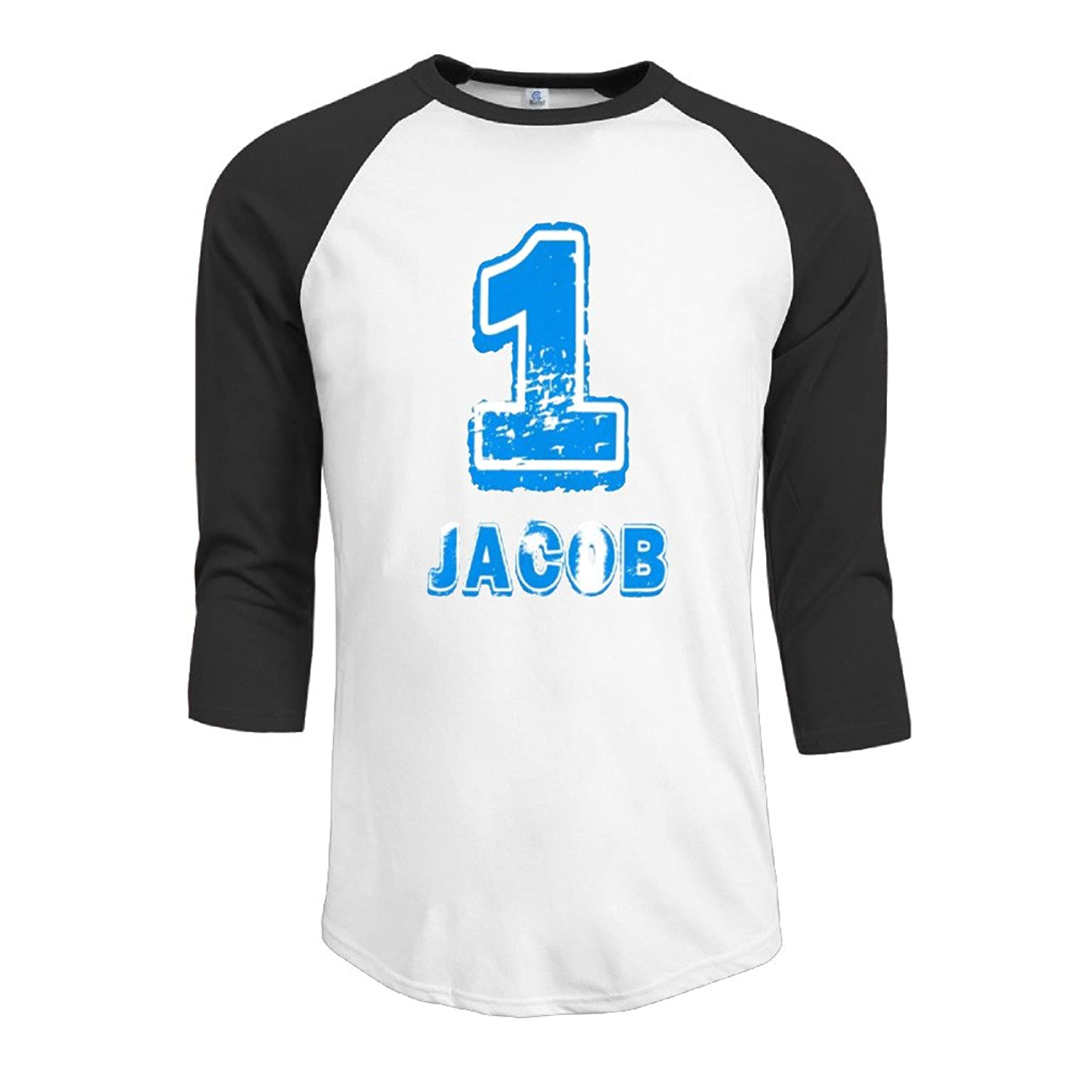 Printed Sportshirt Mens 1st Birthday For One Year Old Top 3/4 Sleeve Raglan Tops Shirt