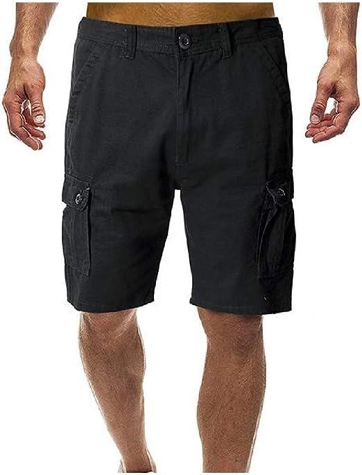 cheelot 男性快適ビッグ&トールカジュアルルーズビッグポケット夏のカーゴショート