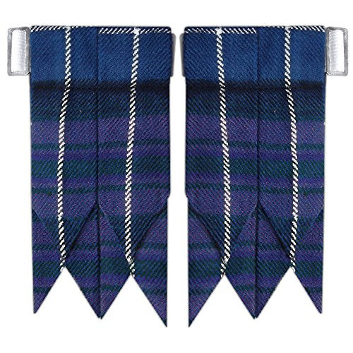 New Solid Plain Black, Royal Stewart Tartan Flashes Many More Scottish Kilt Hose/Sock Flash (Pride of Scotland) Solid Kilt