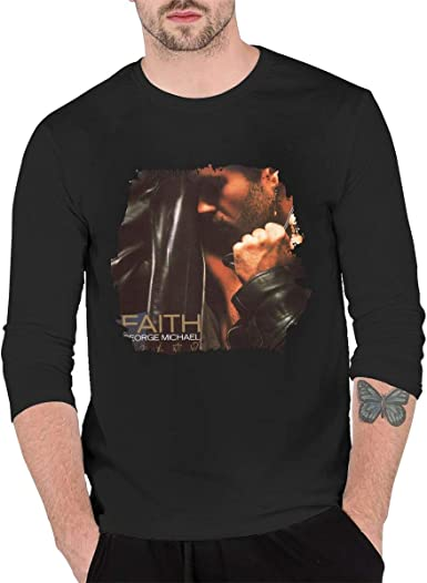 Camiseta Hombre George Michael Faith Manga Larga Negra ...