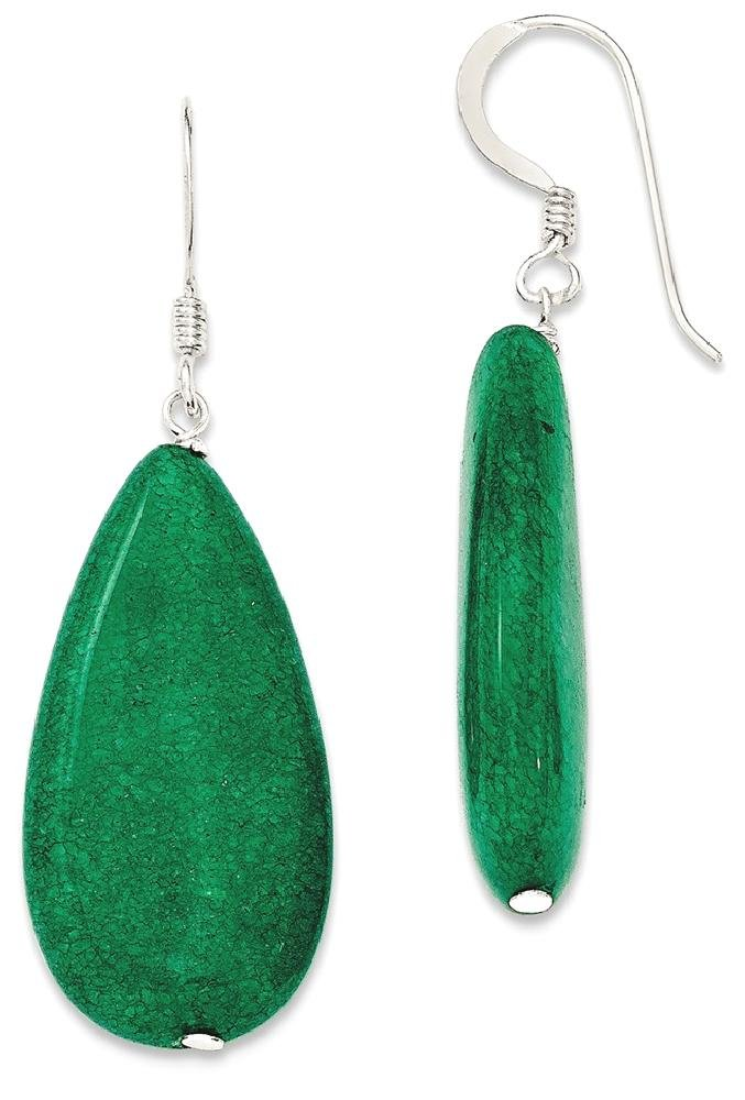 ICE CARATS 925 Sterling Silver Dark Green Jade Drop Dangle Chandelier Earrings Fine Jewelry Ideal Gifts For Women Gift Set From Heart by ICE CARATS (Image #2)
