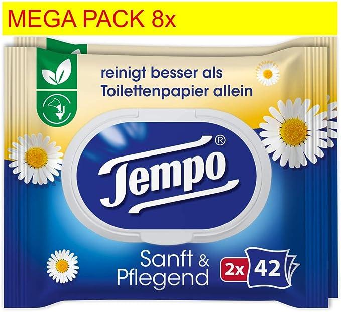 Tempo Papel Higiénico húmedas suavemente y pflegend, 16 x 42 ...