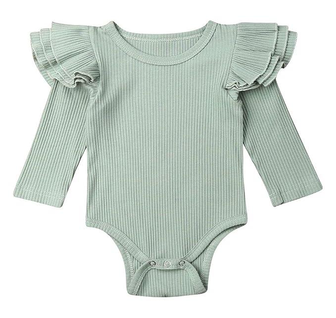Amazon.com: Exquise fille recién nacido bebé niña ropa mosca ...