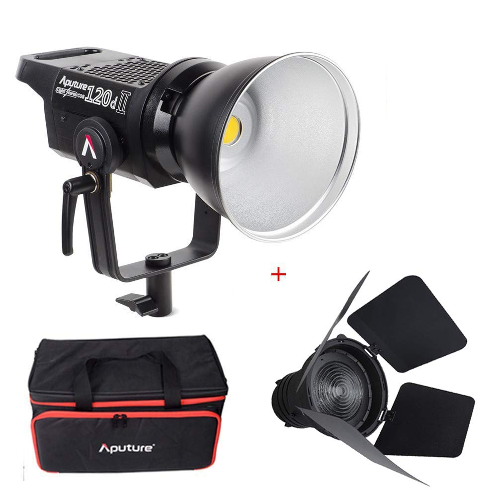 Aputure Light Storm LS C120d II COB 120D Mark 2 + Fresnel mount 180W 5500K LED Continuous Video Light CRI96+ TLCI97+ Bowens Mount,the Ultimate Upgrade,Support DMX,5 Pre-programmed Lighting Effects by Aputure (Image #1)