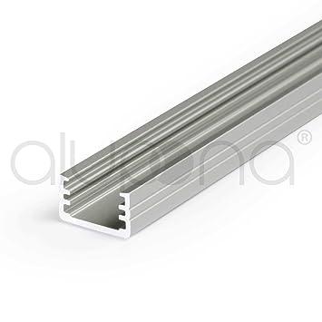Alu Profil RIVA für LED Streifen Stripes Aluminium Schiene Aluprofil Leiste