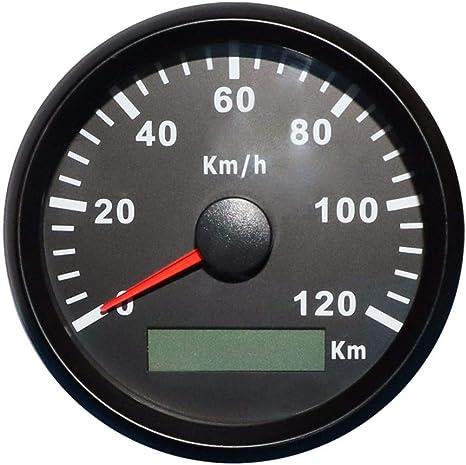 Eling Gps Tachometer Geschwindigkeitsmesser 120km H Für Auto Motorrad Boot Yacht Mit Hintergrundbeleuchtung 85mm 12v 24v Auto