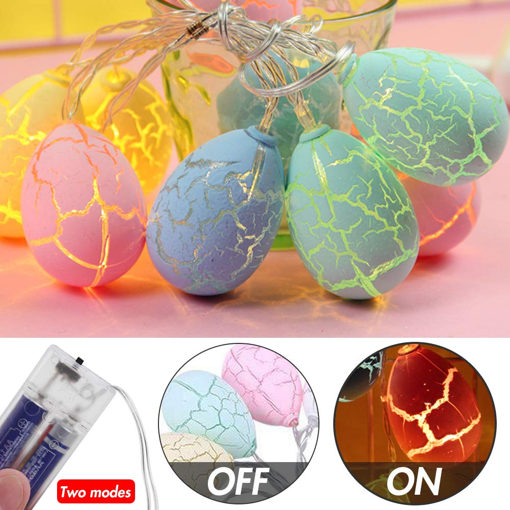 DomeStar Easter Egg Light, 4.9ft 10LED Easter Decoration Lights