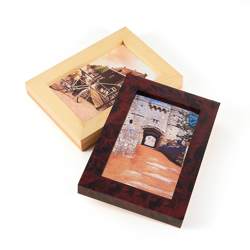 ATMOMO RED Maple Birdseye Wood Grain Vinyl Wrap Sticker Decorative Self-Adhesive Film 50CMx1M