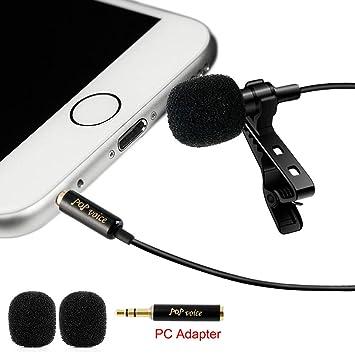Profesional # 1 mejor Lavalier micrófono de solapa omnidireccional Micrófono de condensador para Apple Iphone Android