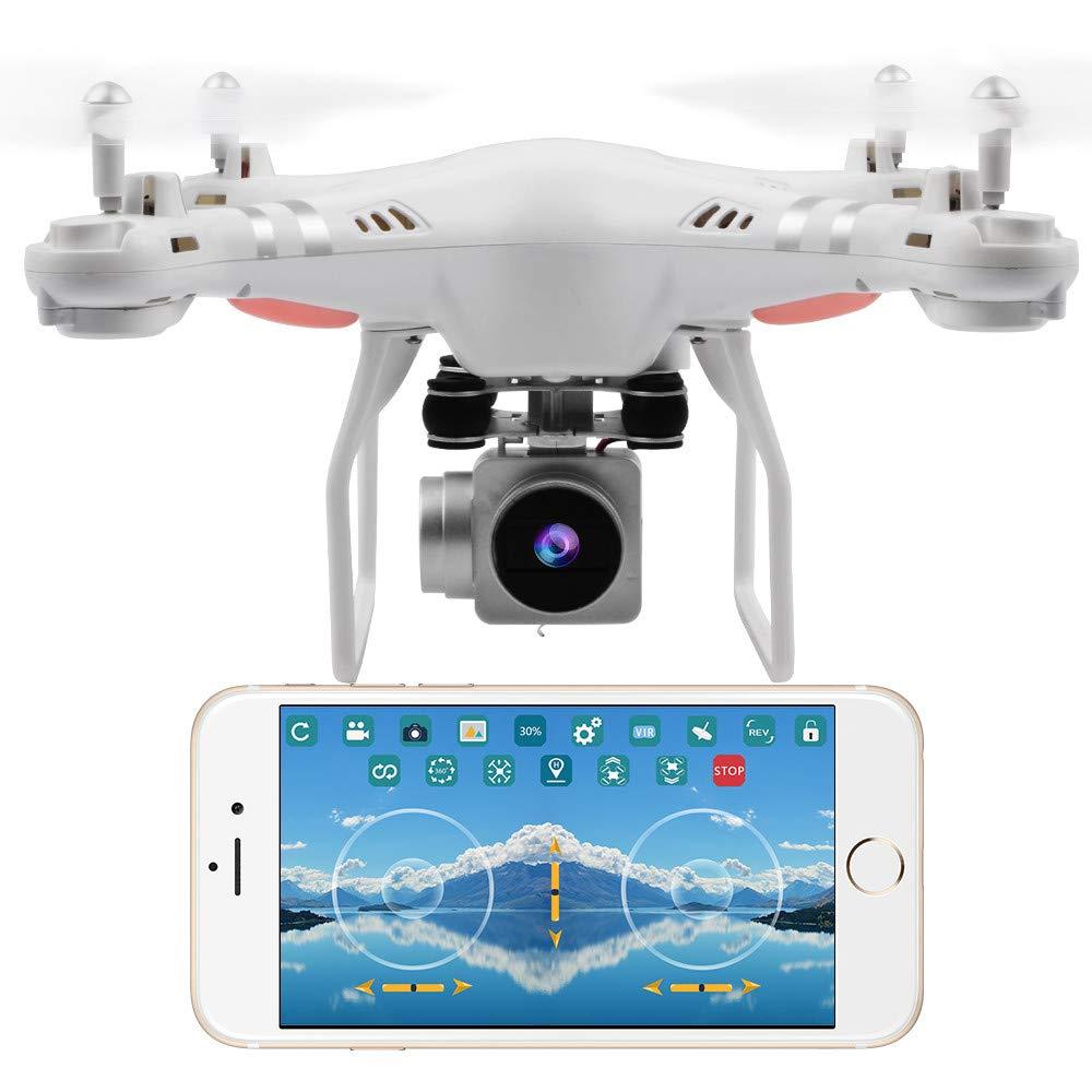 Blanc  HuaMore Grand Angle Lens HD Caméra quadricoptère Drone rc FPV WiFi Hélicoptère Live Flotter avec Camera potensic Pliable