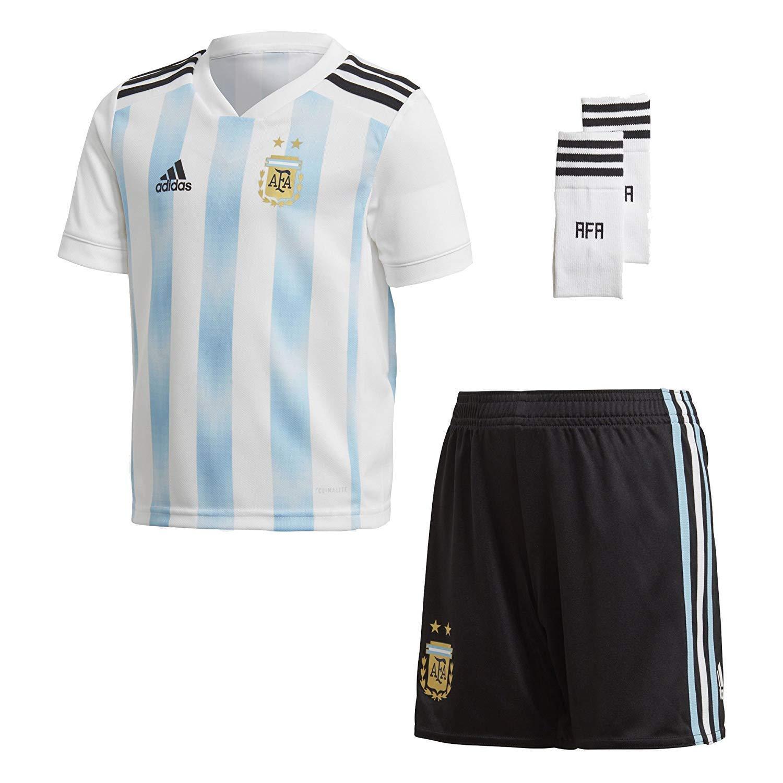 8e89e2f1170f Amazon.com  adidas Soccer Argentina Home Kids Unisex Mini Kit  Clothing