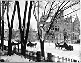 POSTER Sherbrooke Street in winter Montreal QC 1896 Quebec Canada Wall Art Print A3 replica