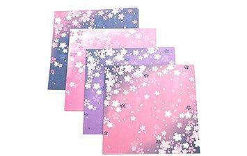 60x Toruiwa Papier Origami Papier Carré Pour Créer Des Fleurs