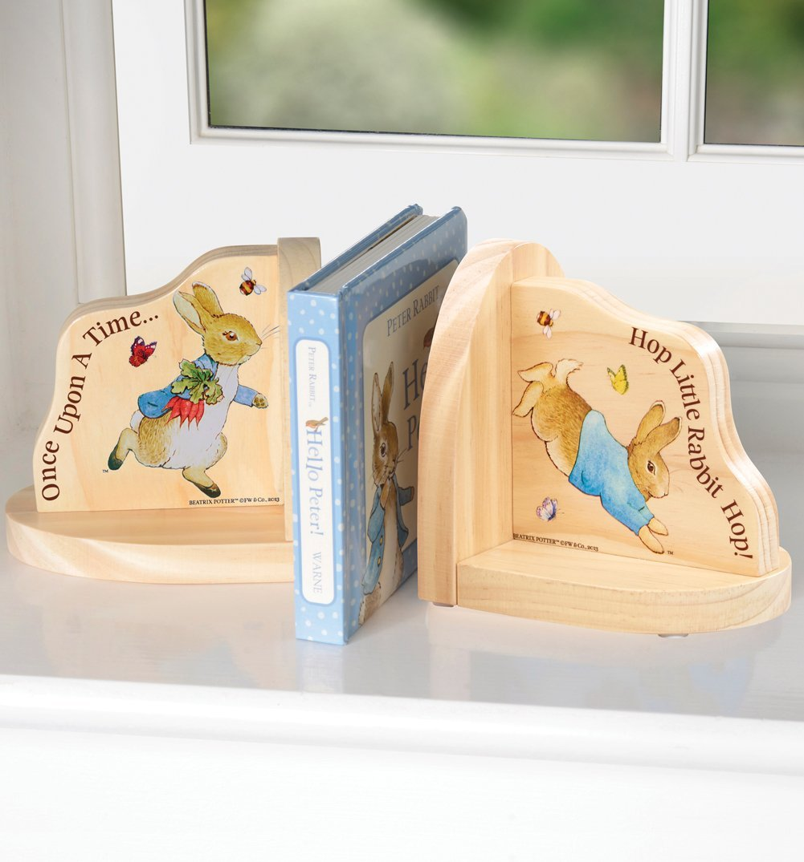 beatrix potter peter rabbit wooden book ends beatrix potter beatrix potter peter rabbit wooden book ends beatrix potter amazon co uk kitchen home