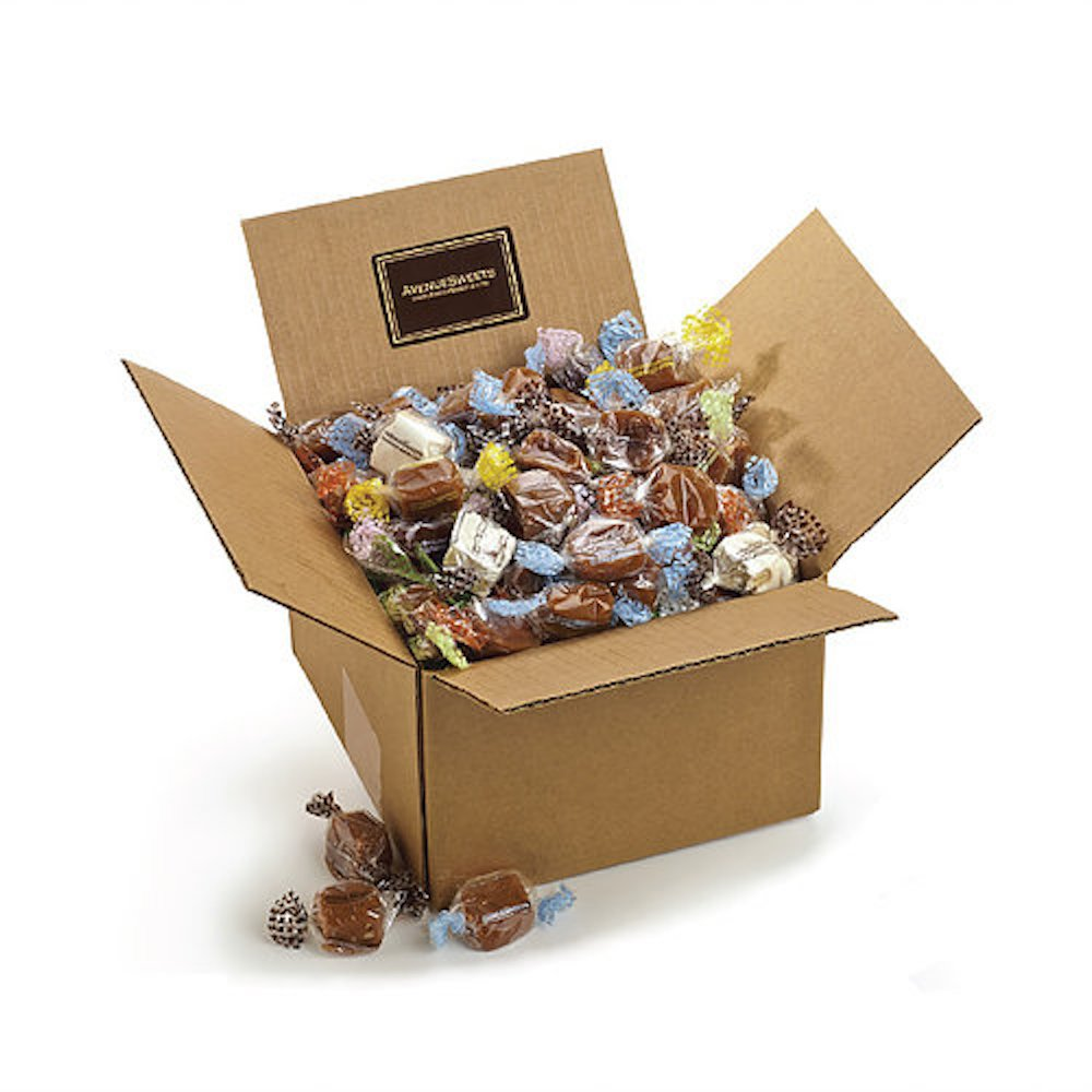 AvenueSweets - Handcrafted Individually Wrapped Soft Caramels - 3 lb Box - Customize Your Flavors by AvenueSweets