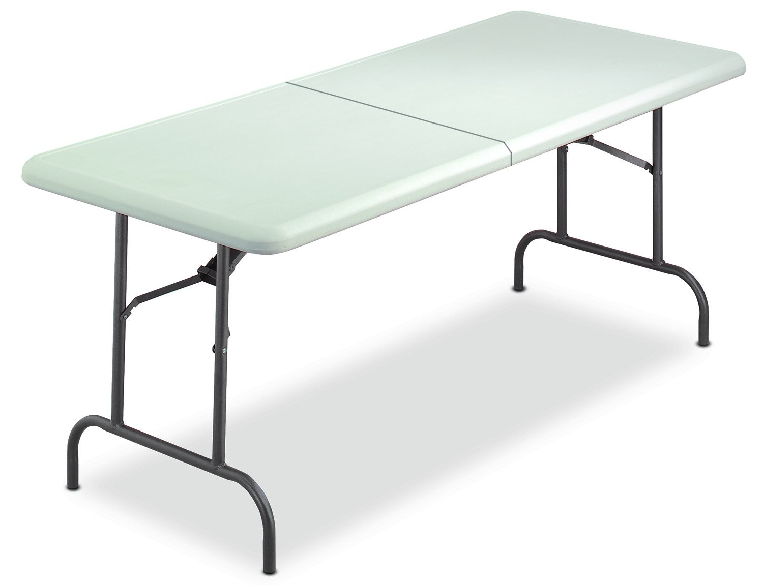 Iceberg 65453 IndestrucTable TOO Bi-Fold Folding Table, 30''x60'', Platinum (Made in USA)