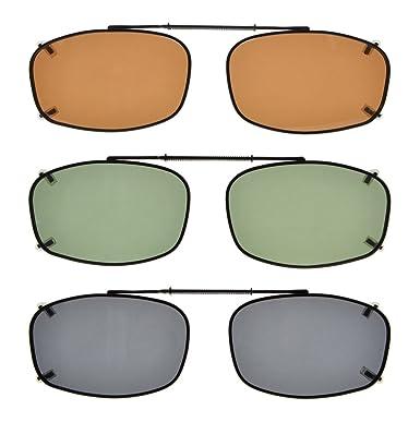 b738559a7 Eyekepper Lente gris/marrón/G15 gafas de sol polarizadas clip 3-pack 54 *  34MM Lente Gris: Amazon.es: Ropa y accesorios