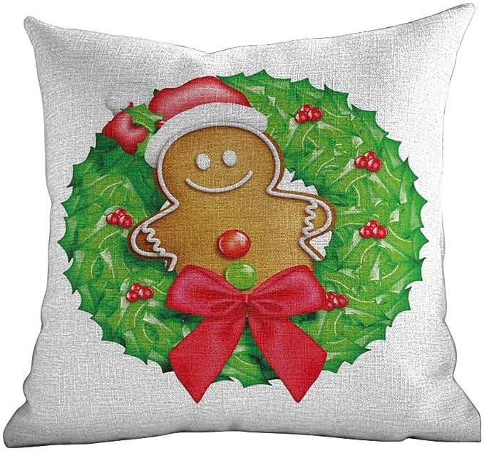 Soft Pillow Case Gingerbread Man