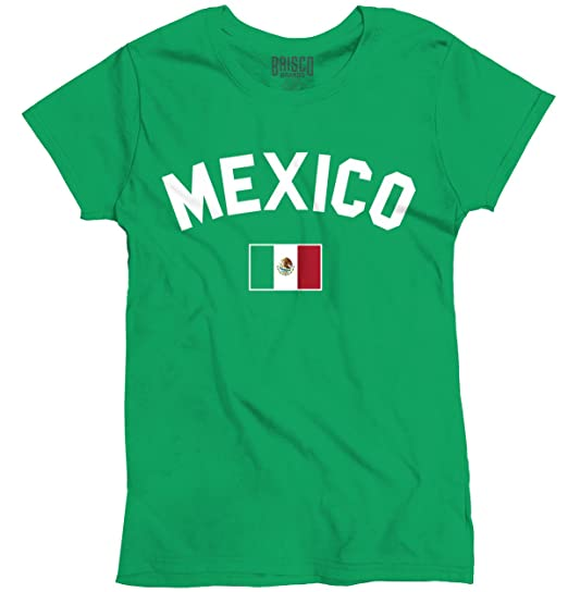 d7d05a064 Image Unavailable. Image not available for. Color  Womens Funny T Shirt  Mexico Flag World Cup Soccer ...