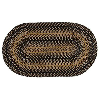 Ebony 3'x5' Oval Braided Country Rug
