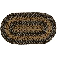 IHF Rugs Ebony 3x5 Oval Braided Country Rug