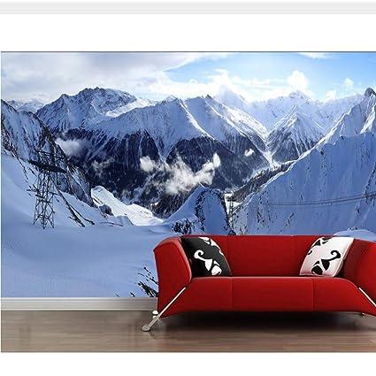 Meaosy Svizzera Montagne Inverno Alpi Neve Natura 3D Carta Da Parati ...