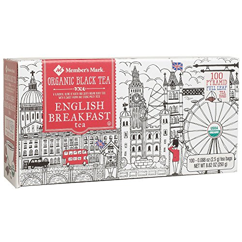 Member's Mark Organic English Breakfast Tea (100 ct.) (pack of 6) by Member's Mark
