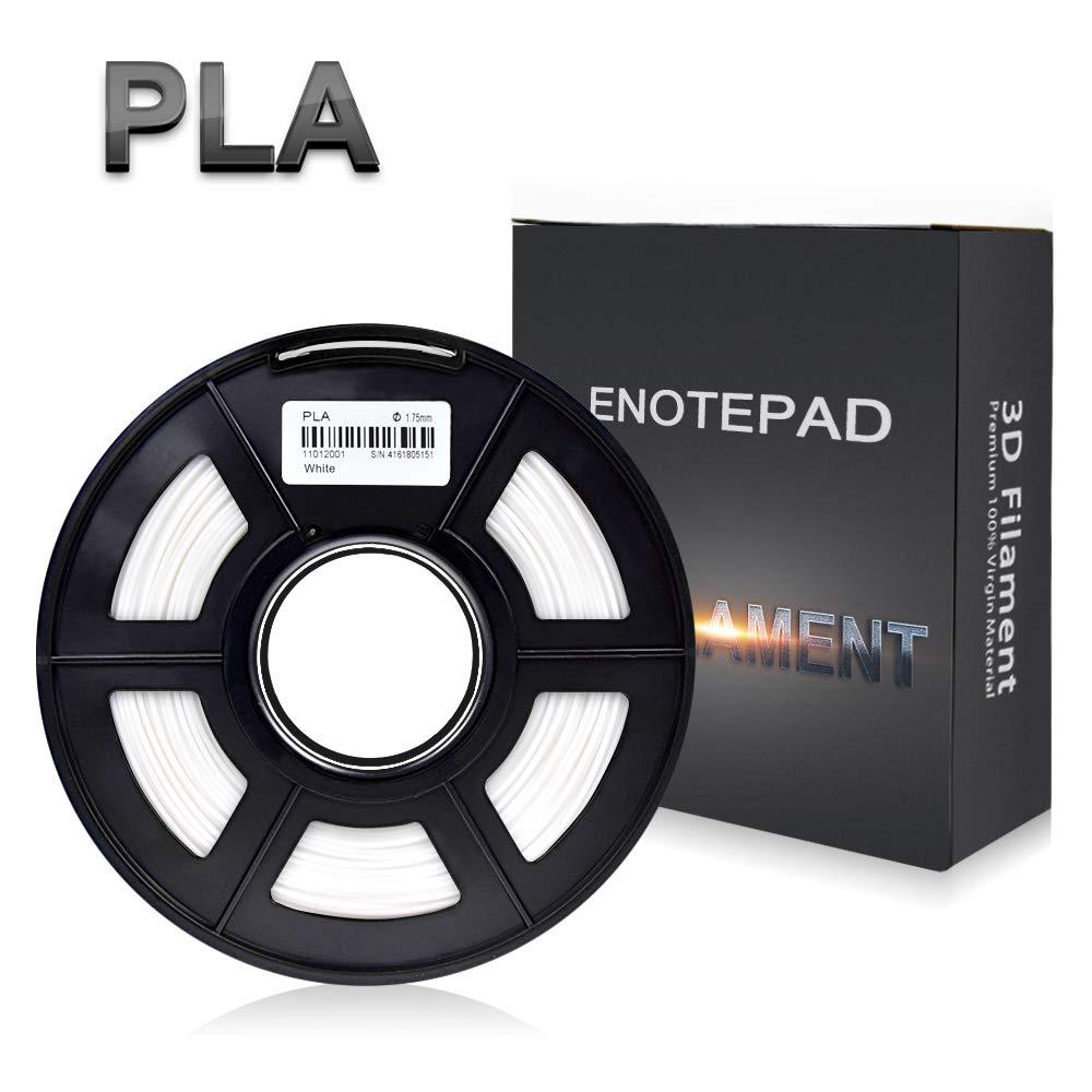 Enotepad PLA Transparente Filamento, Filamenti per Stampanti 3D, Precisione Dimensionale +/-0, 02 mm, 1 kg/bobina, 1, 75 mm, Filamento Ecologico Adatto per Stampante 3D/Pen