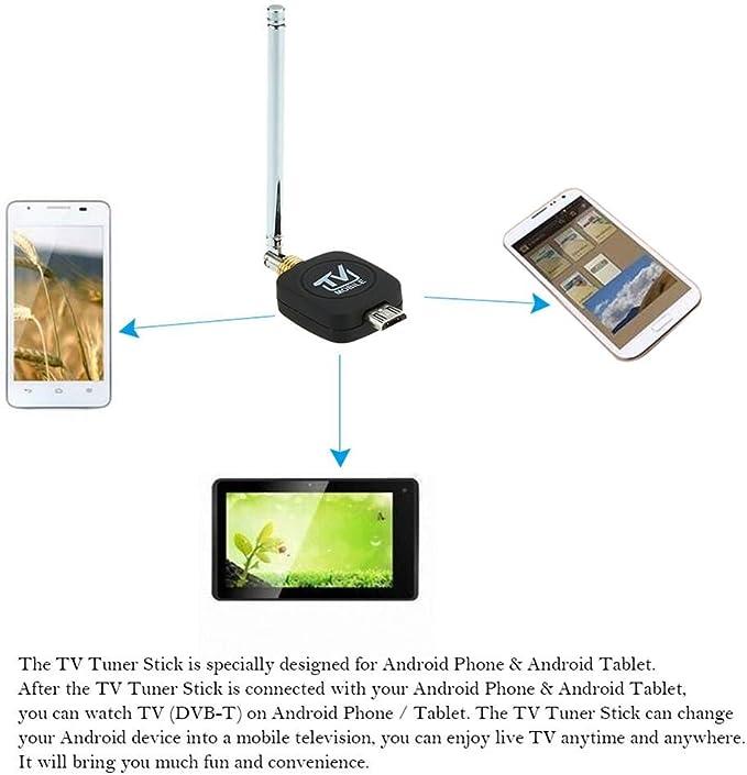 HDTV Mini DVB-T Satélite TV Receptor sintonizador Mini Antena ...