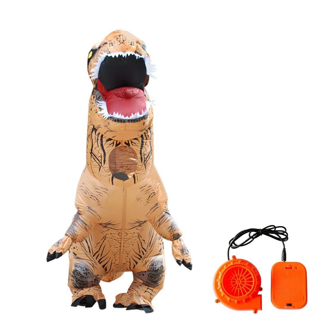 Laurelmartina Precioso diseño Lindo Inflable Dinosaurio Animal Disfraces Divertido Fiesta de Halloween Cosplay Traje de Despedida para niños