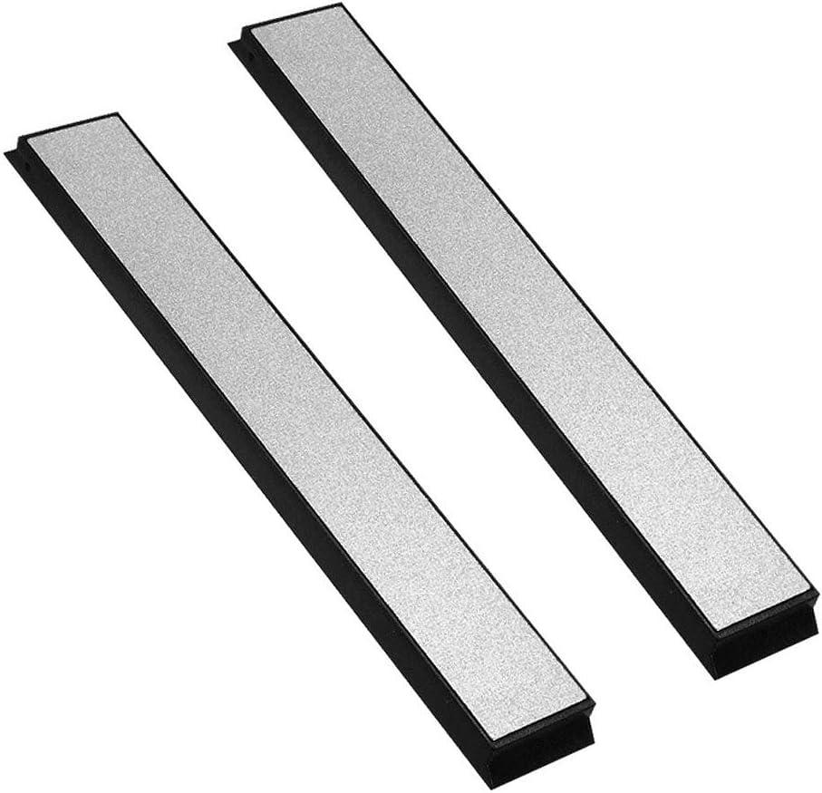 2 piezas Set de piedras de afilar 2000 Diamond Whetstone Accesorio de afilador de cortador de /ángulo fijo para cocina Gobesty Piedra de afilar
