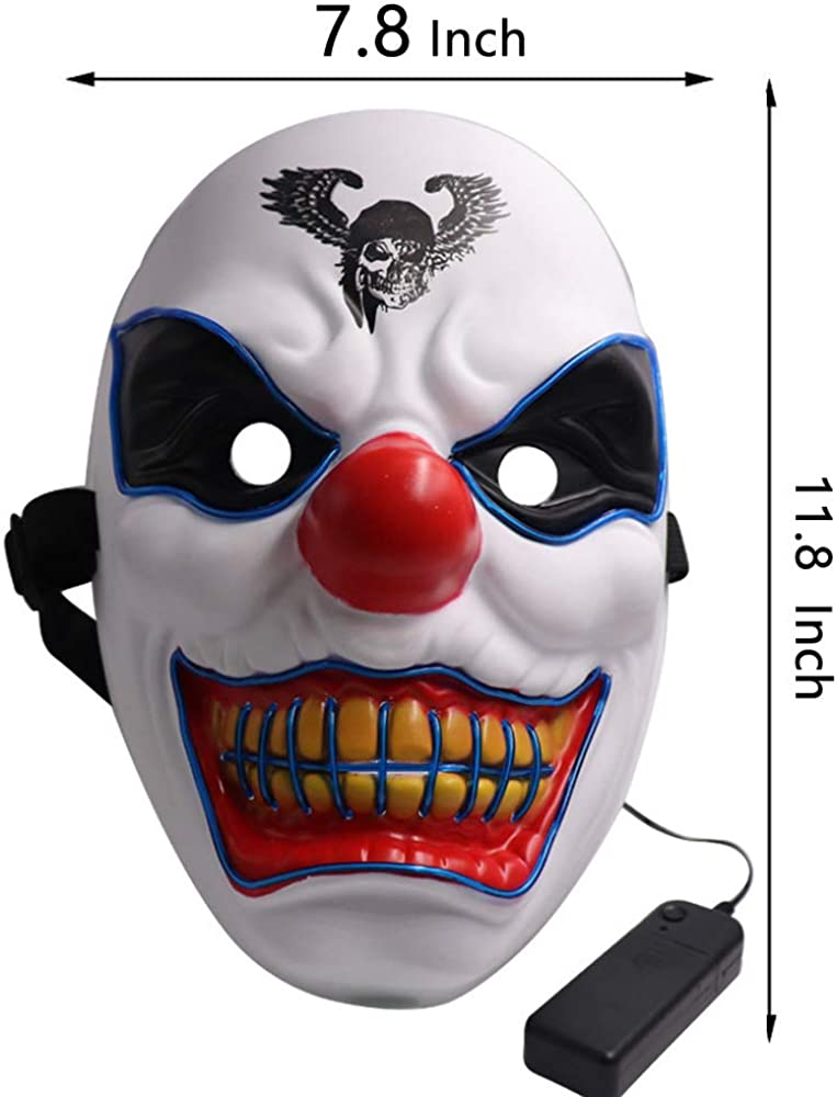 Halloween Mask Light Up Mask LED Costumes Scary Mask for Party Supplies Favor