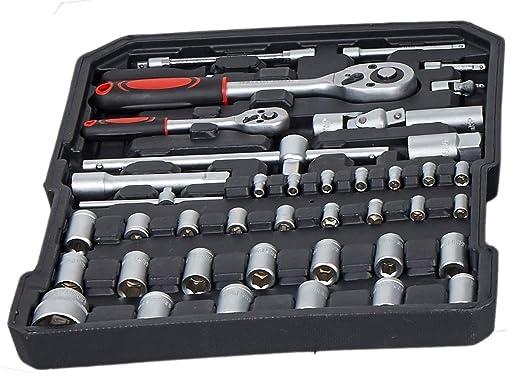 Juego de herramientas de caja de herramientas de aluminio 621 piezas con kit de herramientas de mano métrica estándar: Amazon.es: Bricolaje y herramientas
