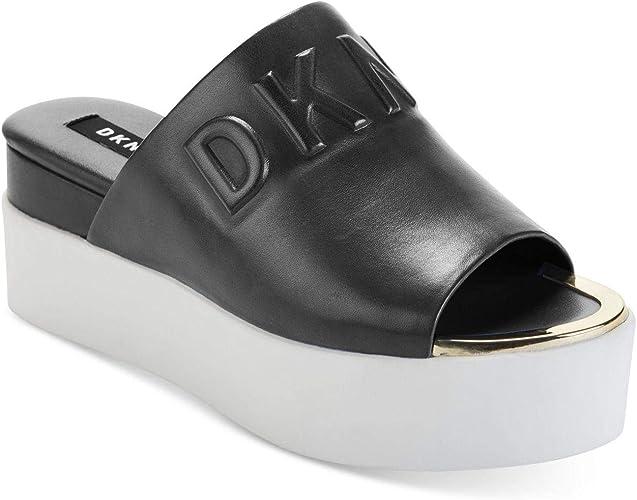 chaussures flatform sandales noires