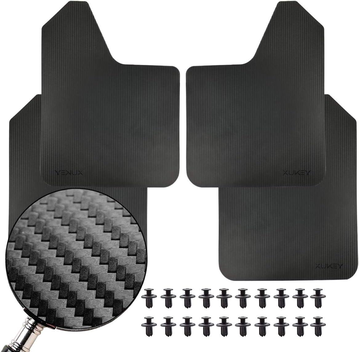 XUKEY 4pcs//Set Universal Carbon Fiber Effect Mudflaps For Car Pickup SUV Van Truck Mud Flaps Splash Guards Mudguards Dirty Traps