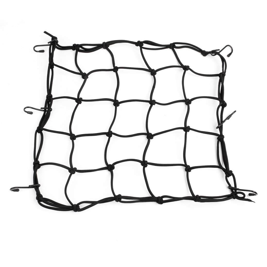 SODIAL(R) Motorcycle Auto Car Black Bungee 6 Hook Designed Luggage Package Flexible Net 032117